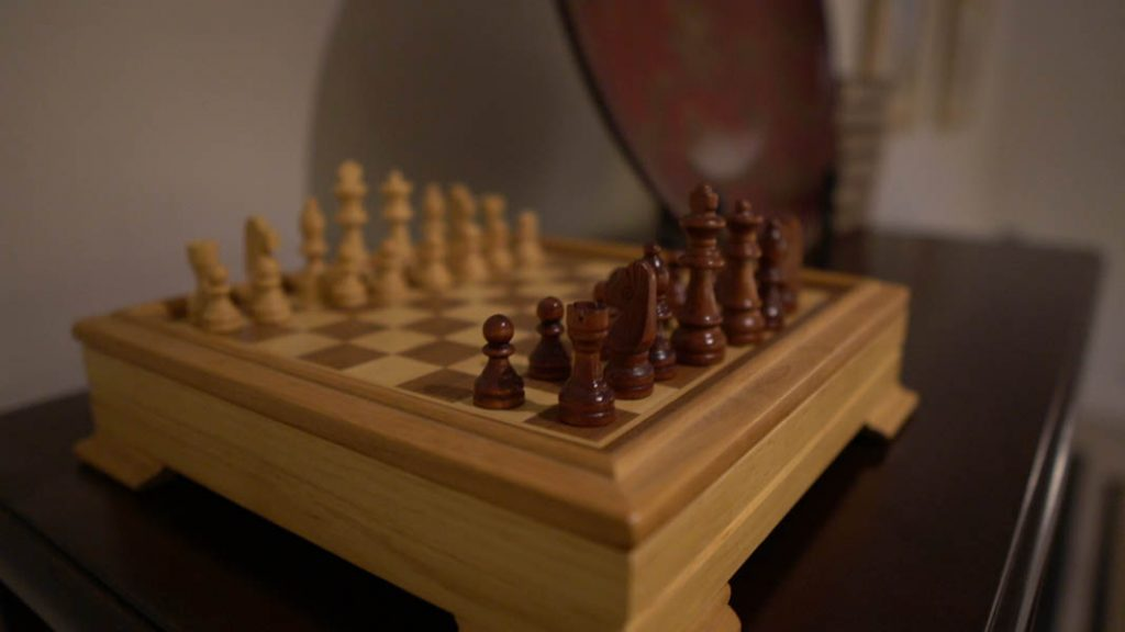 Chess set in accommodation venue McLaren Vale