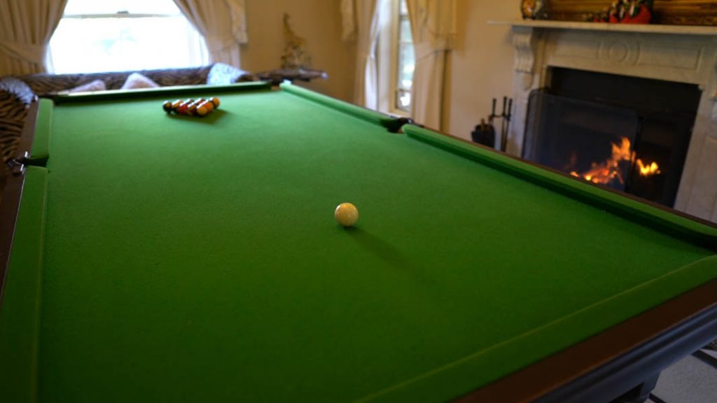 Accommodation with pool table